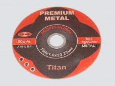 Диск отрезной по металлу PREMIUM 150*1.6*22.23мм (ув.ресурс на 50%)
