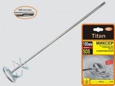 Миксер для краски SDS хвостовик 100х600мм оцинкованный