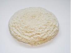 Круг полировочный 125мм натуральный мех, под липучку (профессиональный)