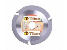 Пильный диск, размер 125x22x3 зуба по дереву для УШМ Titan