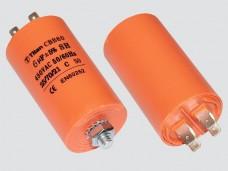 25мкф 450VAC 5% 40х70mm CBB60-E 4 КЛЕММЫ+БОЛТ конденсатор mini