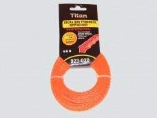 Леска для триммеров оранж. КРУЧЕНЫЙ КВАДРАТ (картон) 2.00мм*15м