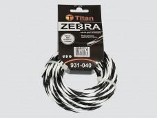 Леска для триммеров ZEBRA (картон) 4.00мм*6м, белый+черный ВИТАЯ, ОСОБО ПРОЧНАЯ