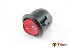 Выключатель 2 положения с красной лампой