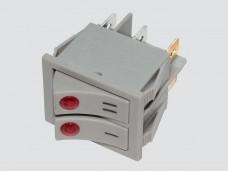 Выключатель маслянного обогревателя двухклавишный 16А (XM1-23) Titan