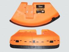 Пластиковая защита для триммера в сборе (кожух, крепл.на штангу, нож) Titan