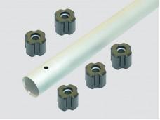 Алюминиевая труба 28мм + 5резиновых втулок (диам. 8мм) Titan