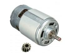 Двигатель для шуруповерта 14,4V (D-37мм, L-75мм, диаметр шестерни-10мм, число зубов-12.) скос (Шесте