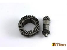 Коническая пара(CC-70A) d30*D45 /d 15*D19 для перфоратора/ цилиндр+вал (конические) с обрезанной юб
