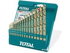 Набор сверл по металлу 19шт TOTAL . Этот набор состоит из 19 сверл с размерами: 1 / 1.5 / 2 / 2.5