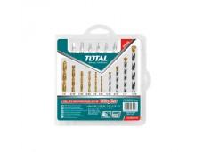 Набор сверл по металлу и бетону с отверточными битами 16 шт. (6 бит, 10 сверл) TOTAL