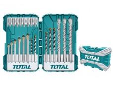 Набор комбинированный сверл и бит 22шт (дерево, металл, бетон) TOTAL
