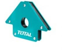 Магнитный угольник-держатель для сварки на 3 угла (45°, 90°, 135°), усилие 22 кг TOTAL
