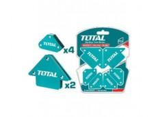 Магнитный угольник-держатель для сварки (комплект 6 шт: 2 шт по 11 кг, 4шт по 4,5 кг) TOTAL