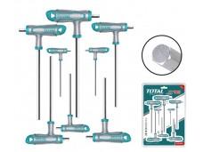 Набор шестигранных T-образных ключей 8 шт (2X75,2.5X75,3X100,4X100,5X150,6X150,8X200,10X200 мм) TOT