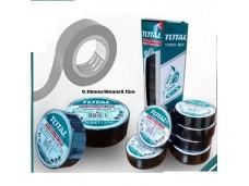 Изолента ПВХ 19 мм х 9,15 м, толщина 0,19 мм черная TOTAL