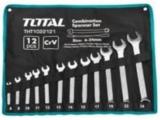 Набор гаечных рожково-накидных ключей 6-24mm/12шт в сумке TOTAL