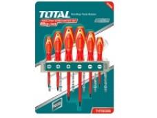Набор отверток с изолированными ручками 6 шт (SL3, SL4, SL6,5 PH0, PH1, PH2) для работ под напряжени