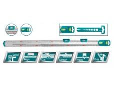 Линейка многофункциональная 60см, с уровнем TOTAL